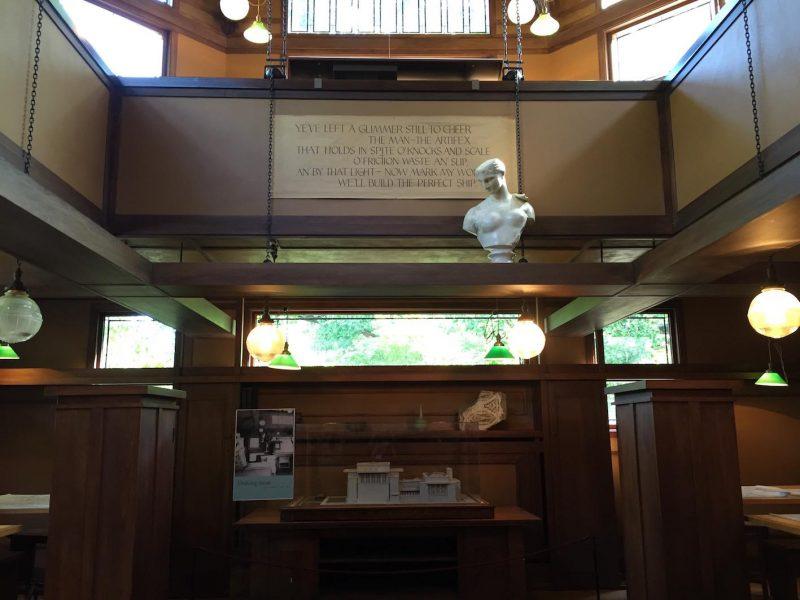 tour Frank Lloyd Wright Sala de trabalho do Studio