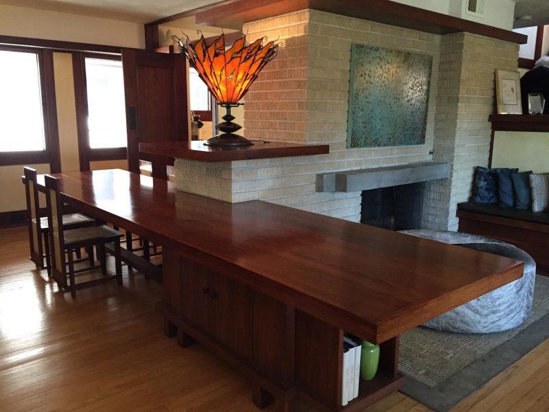 tour Frank Lloyd Wright Sala de jantar Emil Bach House