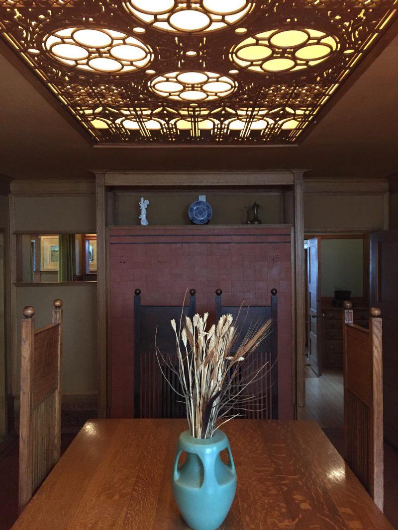 tour Frank Lloyd Wright Sala de Jantar Frank Lloyd Home